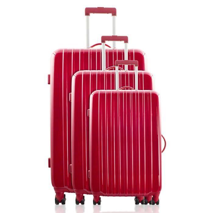 set de 3 valises en polycarbonate code tsa achat vente set de valises 3662933500872. Black Bedroom Furniture Sets. Home Design Ideas