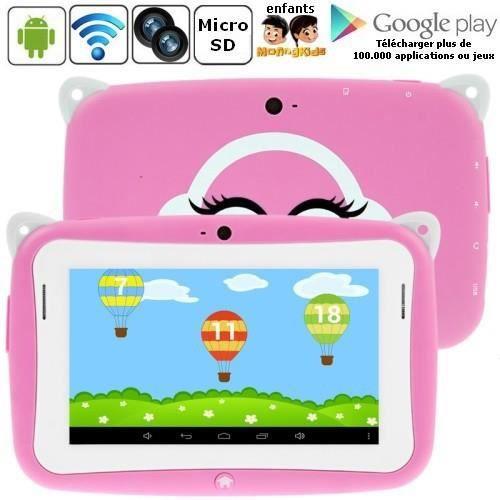 tablette enfant tactile rose 4 go android 4 2 achat vente tablette enfant cdiscount. Black Bedroom Furniture Sets. Home Design Ideas