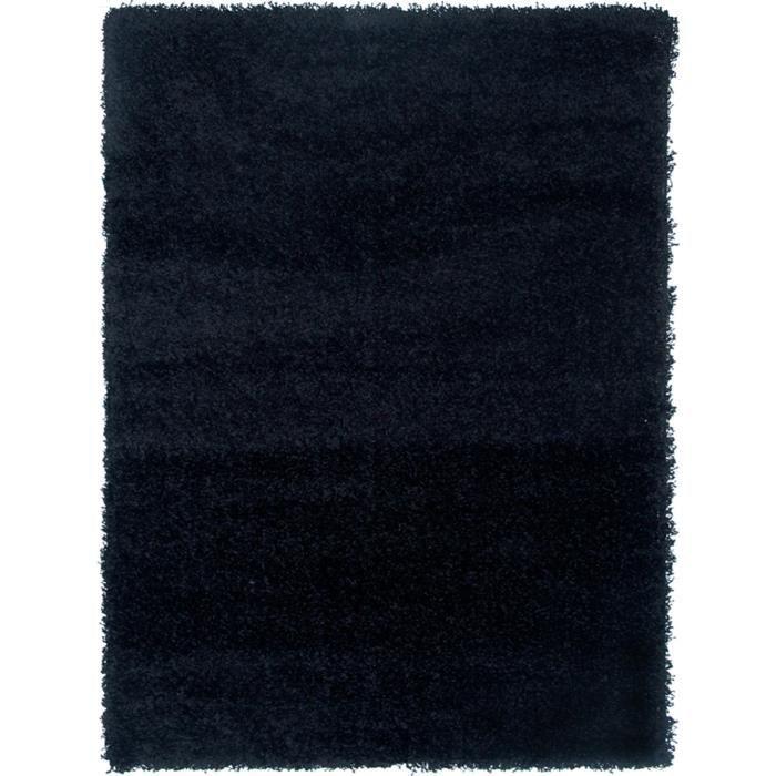 Benuta tapis poils longs loft noir 200x200 cm achat for A poil a la maison