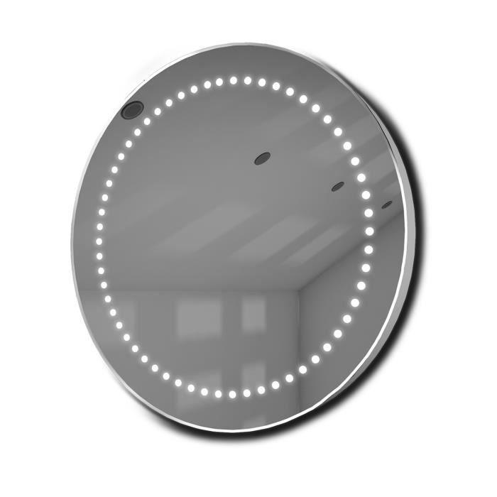 Miroir ultra fin avec lumineux led capteur et antibu e for Miroir sans fin