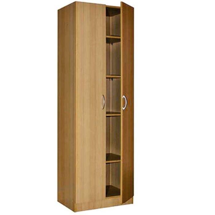 Armoire 2 portes d cor h tre naturel achat vente for Decoration porte armoire