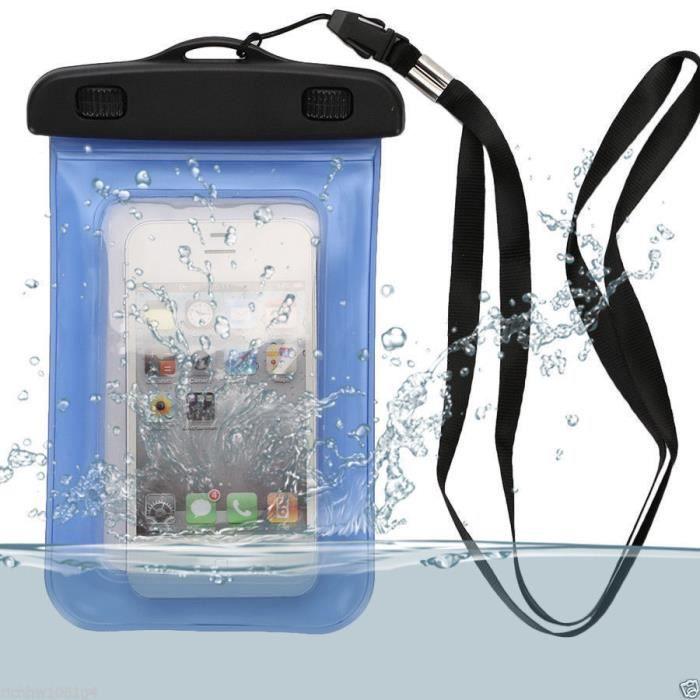 Etui housse etanche waterproof universel bleu pour samsung for Housse photo etanche