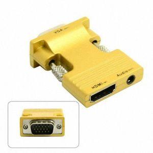 CÂBLE AUDIO VIDÉO Chenyang HDMI femelle vers VGA mâle et adaptateur
