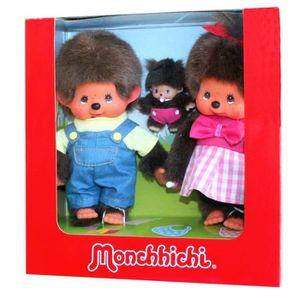 POUPÉE Monchhichi - Set Famille - Papa, Maman et Bébé Beb