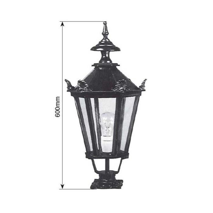 luminaire ext rieur faubourg hexagonal 60cm noir achat vente lampion luminaire ext rieur. Black Bedroom Furniture Sets. Home Design Ideas