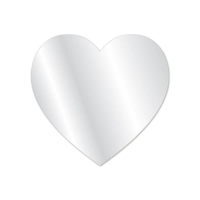 Miroir fille gros coeur achat vente miroir soldes for Miroir fille