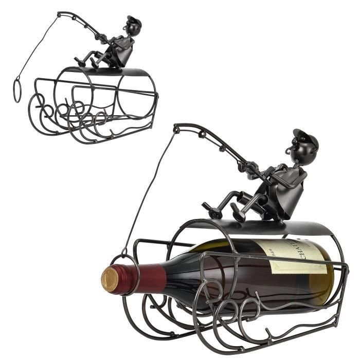 Porte bouteille p cheur porte bouteille de vin - Fabriquer support bouteille vin ...