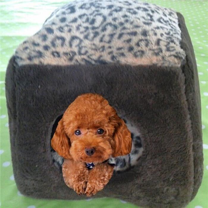nid chenil maison en coton doux pour chien chiot chat. Black Bedroom Furniture Sets. Home Design Ideas