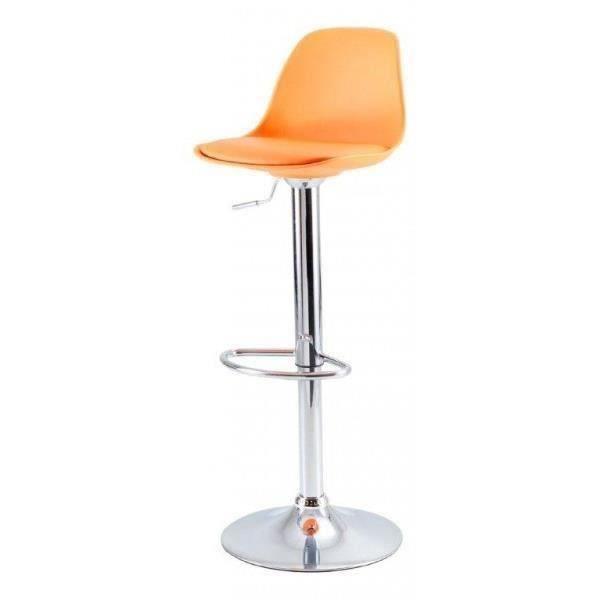 tabouret de bar ga lle orange 38 5x42 5x77 5 10 achat. Black Bedroom Furniture Sets. Home Design Ideas