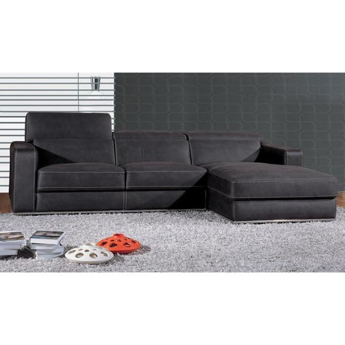 Canap angle droit en tissu angle droit anthrac achat for Canape d angle large assise