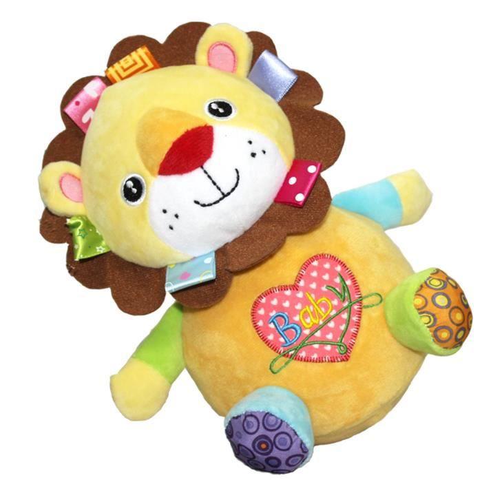 tofern culbuto clochettes jouet bascule peluche doudou poup e jouet d veil b b enfant lion. Black Bedroom Furniture Sets. Home Design Ideas