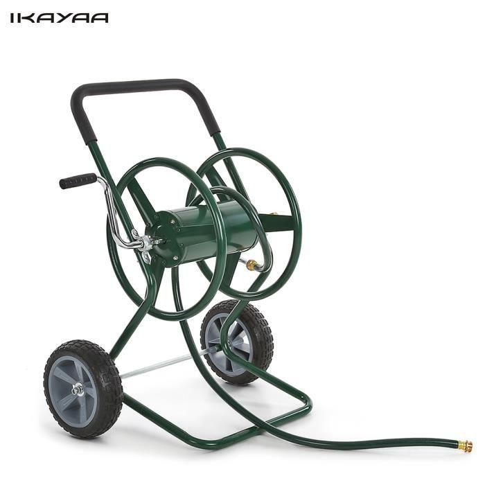 ikayaa d vidoir chariot pour tuyau d 39 arrosage 200 pieds panier jardin achat vente d vidoir. Black Bedroom Furniture Sets. Home Design Ideas