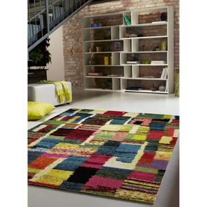 Tapis salon souk bleu 133x200 par esprit tapis moderne achat vente tapi - Vente de tapis de salon pas cher ...