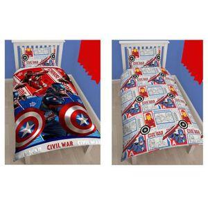 parure drap avengers achat vente parure drap avengers pas cher les soldes sur cdiscount. Black Bedroom Furniture Sets. Home Design Ideas