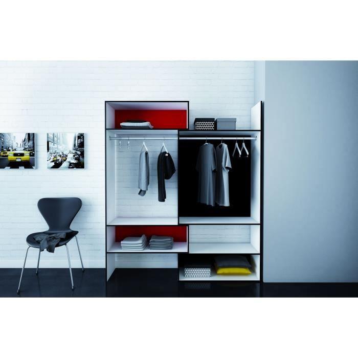colors kit placard blanc rouge noir achat vente amenagement dressing colors kit placard 3. Black Bedroom Furniture Sets. Home Design Ideas