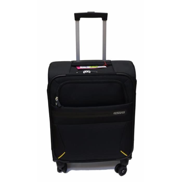 valise spinner 55cm summer voyager american tourister volt black achat vente valise. Black Bedroom Furniture Sets. Home Design Ideas