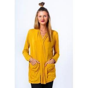 gilet jaune 2 poches 5024 jaune moutarde achat vente gilet cardigan 2009885726874 les. Black Bedroom Furniture Sets. Home Design Ideas