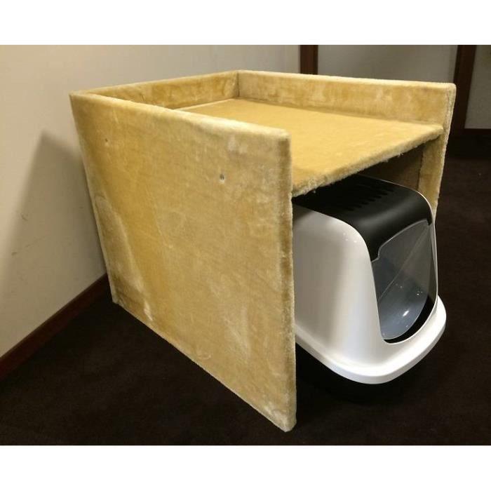 Cache maison de toilette beige achat vente griffoir for Beige ka che