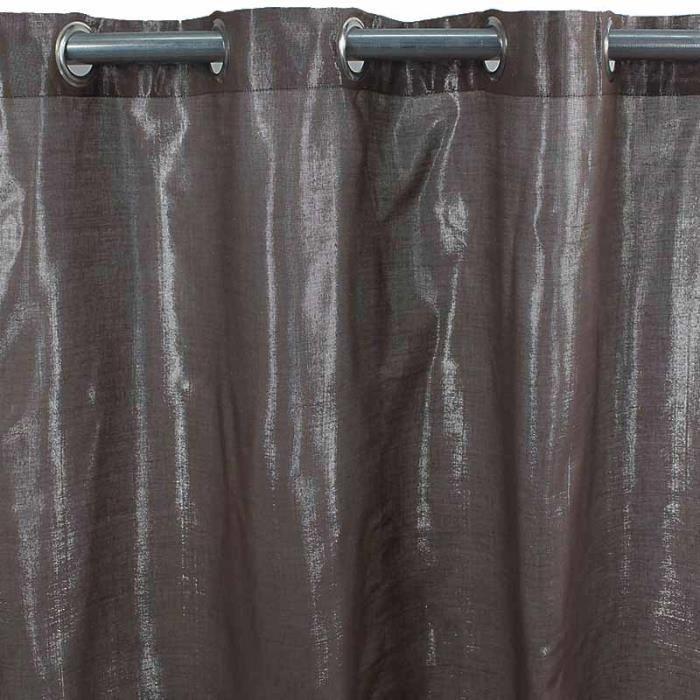 rideau quartz chocolat 140x250cm achat vente rideau coton cdiscount. Black Bedroom Furniture Sets. Home Design Ideas