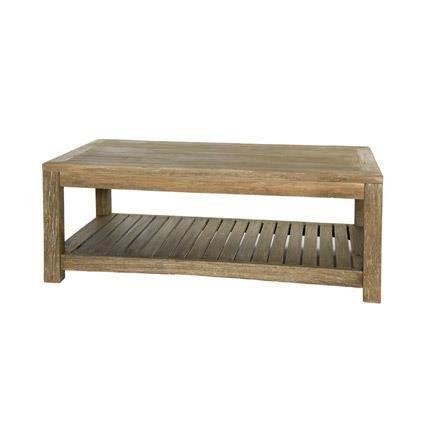 Table basse en bois brut vieilli 120x65x45cm lausanne achat vente table basse table basse La petite table basse en bois brut