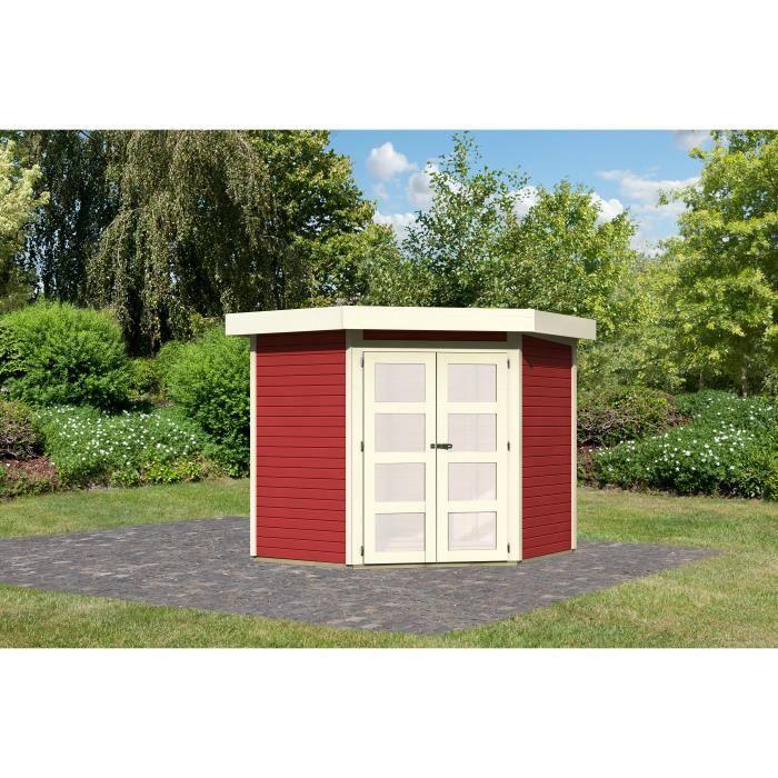 Abri de jardin rouge m2 19mm goldendorf 3 achat - Abri de jardin soldes ...