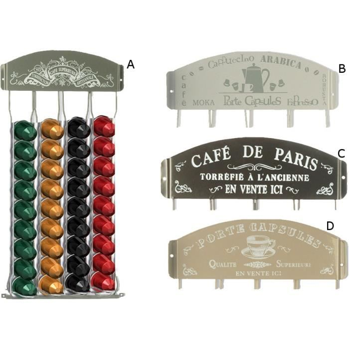 Support mural pour capsules caf mod le c achat - Support mural capsules nespresso ...