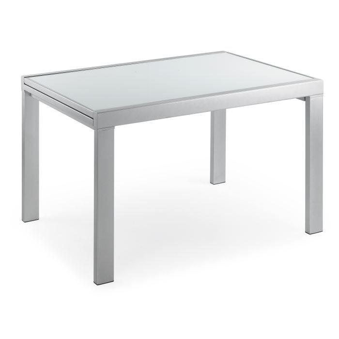 Table de cuisine avec allonges moderne odalia 6 achat - Table haute avec rangement pour cuisine ...