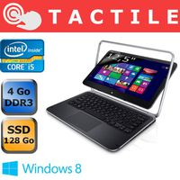 Ordinateur Portable DELL XPSDUO12 NOIR ARGENT INTEL CORE I5 3337U 1.8GHZ 4GO 128GO WIN8
