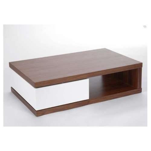 Table salon contemporaine laque et bois achat vente - Table salon contemporaine ...
