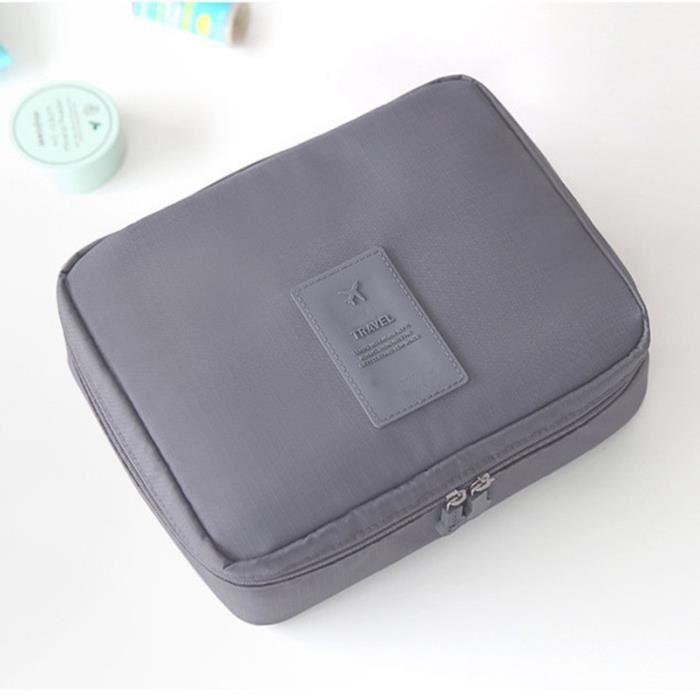 gris trousse de toilette sac comestique voyage pratique rangement organisateur gris achat