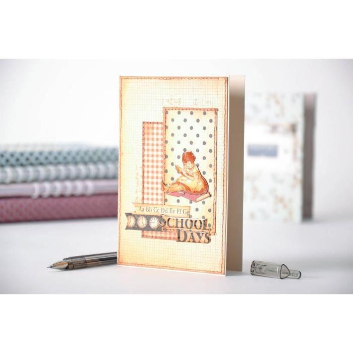 Carte postale en papier scrap faite main - Achat / Vente carte postale Carte postale en papier ...