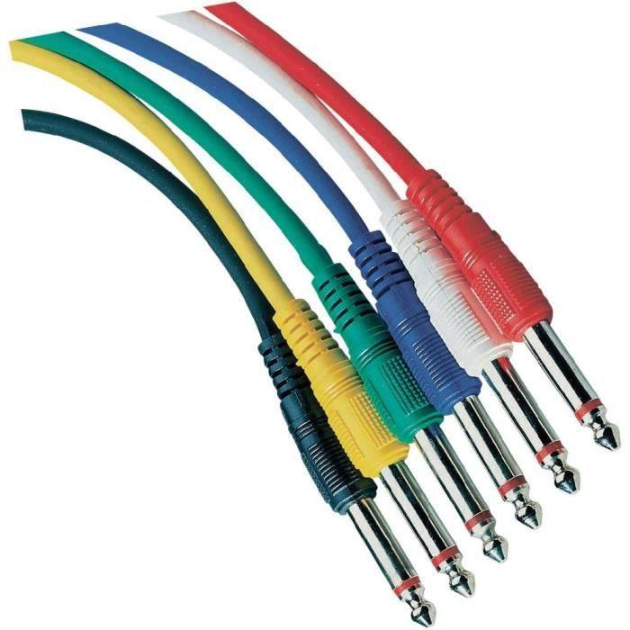 Set de c bles de connexion jack pas cher achat vente for Cable plat passe fenetre