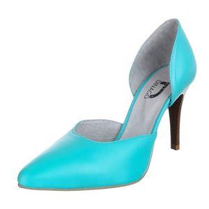 af0b1feb8de ... chaussures femmes escarpins talon haut turquoise