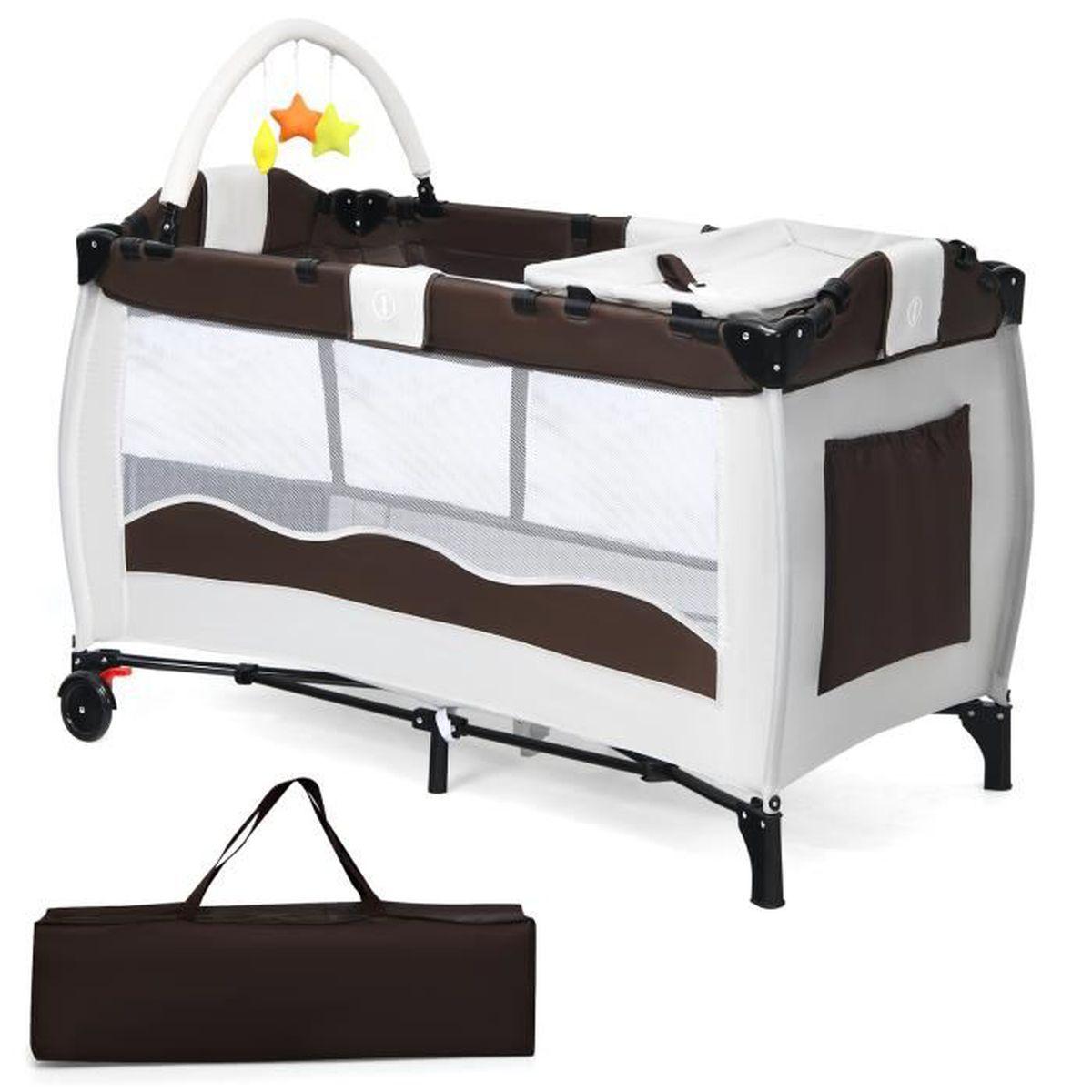 lit b b pliant avec des accessoires lit de voyage caf achat vente lit b b 6933315540876. Black Bedroom Furniture Sets. Home Design Ideas