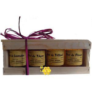 COFFRET GASTROMONIE Coffret Bois Miels du Sud 1 - 4x125g