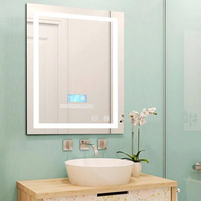 Miroir lumineux salle de bain led clairage 600x 800cm 24w for Led etanche salle de bain