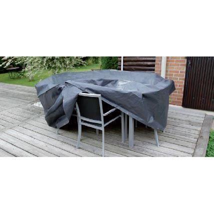 housse de protection pour table ronde et chaises 325 cm de diametre achat vente housse. Black Bedroom Furniture Sets. Home Design Ideas