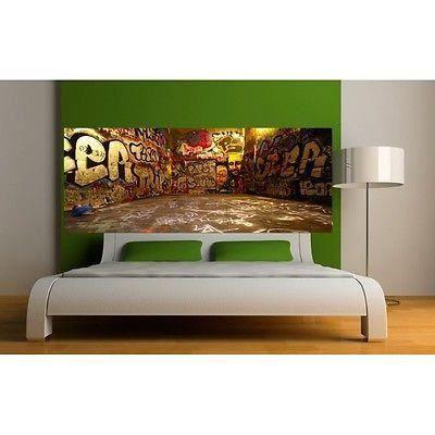 papier peint t te de lit tag grafitti 3618 dimensions 220x86cm achat vente papier peint. Black Bedroom Furniture Sets. Home Design Ideas