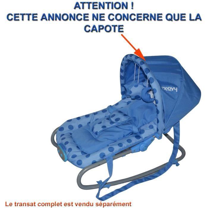 capote bleue pour transat bebe achat vente transat balancelle capote bleue pour transat b