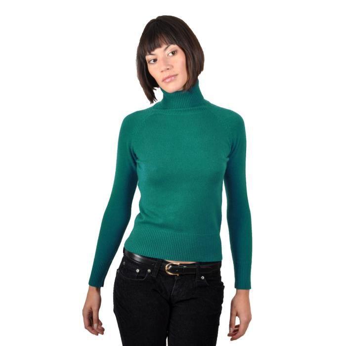 pull cachemire femme mahina vert meraude vert achat. Black Bedroom Furniture Sets. Home Design Ideas