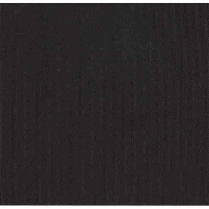 Serviettes celi ouate 38x38 cm les 50 noir achat for Serviette de table noir