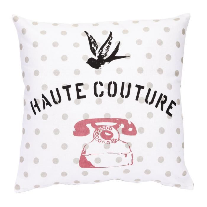 Coussin haute couture 40x40cm achat vente coussin cdiscount - Coussin haute couture ...
