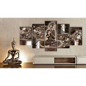 Toile bouddha achat vente toile bouddha pas cher les for Tableau impression sur toile