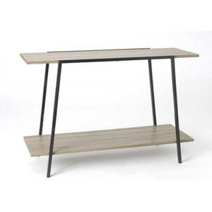 console en bois brut achat vente console en bois brut pas cher cdiscount. Black Bedroom Furniture Sets. Home Design Ideas