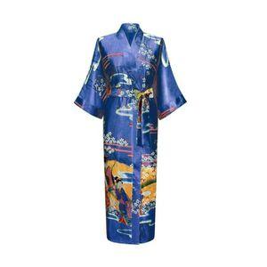 robe de chambre longue femme achat vente robe de chambre longue femme pas cher cdiscount. Black Bedroom Furniture Sets. Home Design Ideas