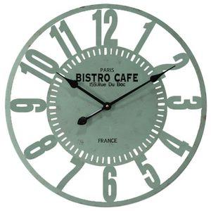 Horloge murale style industriel achat vente horloge murale style industriel pas cher cdiscount for Horloge murale style bistrot