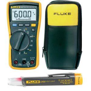 MULTIMÈTRE Set multimètre numérique Fluke 115 + détecteur de