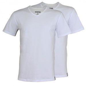 T-SHIRT Pack de 2 Tee Shirt Redskins TSCV02BLBL Blanc/Blan
