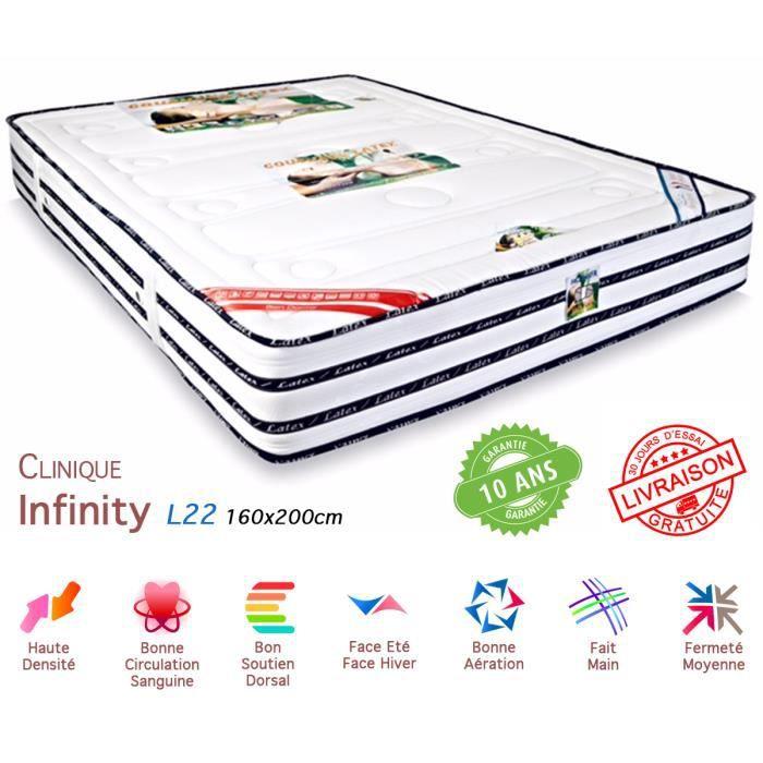 Matelas latex 160x200 infinity luxe achat vente matelas cdiscount - Matelas latex 160 x 200 ...
