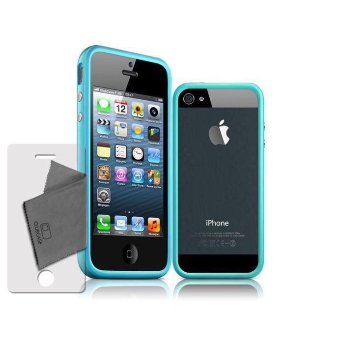 coque housse etui bumper pour iphone 5 5s hq bleu achat. Black Bedroom Furniture Sets. Home Design Ideas